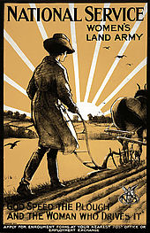 "Affiche de la ""Women's Land Army"""
